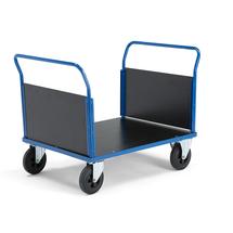 Plošinový vozík, 2 madla, 1000x700 mm, bez brzdy, gumová kola