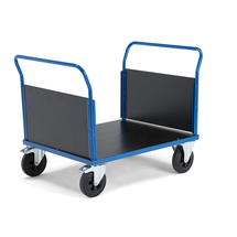 Plošinový vozík, 2 madla, 1000x700 mm, s brzdou, gumová kola