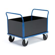 Plošinový vozík, vysoké stěny, 1000x700 mm