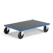 Plošinový vozík, 1000x700 mm, gumová kola, bez brzdy