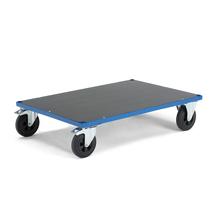 Plošinový vozík, 1000x700 mm, gumová kola, s brzdou