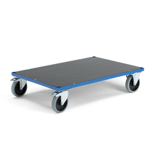Plošinový vozík, 1000x700 mm, superelastická kola, s brzdou