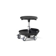 Pracovní stolička Midi, 370-500 mm, černá