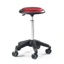 Pracovní stolička Diego, výška 440-570 mm, mikrovlákno, červená