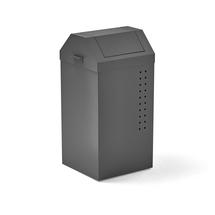 Odpadkový koš Tyson, 820x410x390 mm, 100 l, šedý