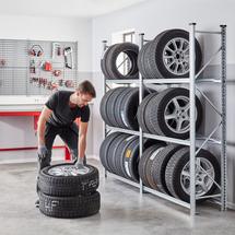 Regál na pneumatiky Transform, 3 úrovně, 2000x1200x400 mm