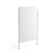 Postranní panel k oboustrannému prodejnímu regálu Shop, 1500x900 mm, bílý
