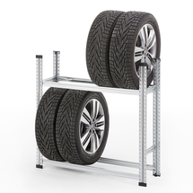 Regál na pneumatiky, 2 úrovně, 1050x1120x320 mm