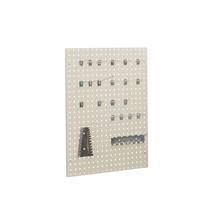 Perforovaný panel na nářadí, 938x708 mm, šedý