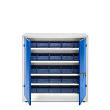 Dílenská skříň s 25 boxy, 1000x1000x400 mm