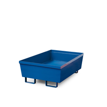 Záchytná vana, 800x800x545 mm, bez roštu, modrá
