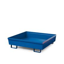 Záchytná vana, 1200x800x415 mm, bez roštu, modrá
