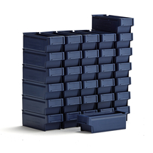 Plastový box Detail, 300x115x100 mm, modrý, bal. 32 ks