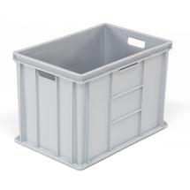 Plastová přepravka Euro, 80 l, 600x400x410 mm, šedá