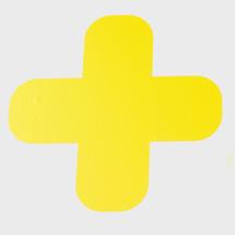 Podlahová samolepka, kříž