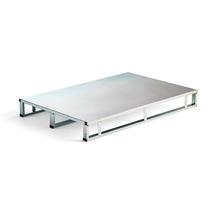 Kovová paleta Volume, hladká, 1000 kg, 1200x800 mm