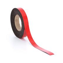 Popisovatelná magnetická páska, 25 mm, délka 20 m, červená