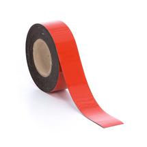 Popisovatelná magnetická páska, 50 mm, délka 20 m, červená