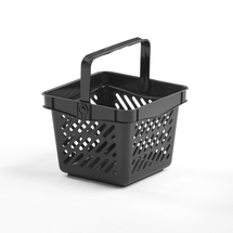 Nákupní košík, 270x270x210 mm, objem 10 l, černý