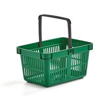 Nákupní košík, 27 l, zelený