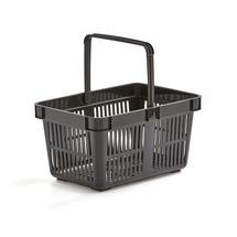 Nákupní košík, 27 l, černý