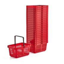 Nákupní košík, 27 l, červený, bal. 22 ks