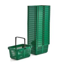 Nákupní košík, 27 l, zelený, bal. 22 ks