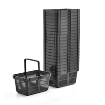 Nákupní košík, 27 l, černý, bal. 22 ks
