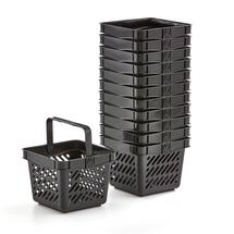 Nákupní košík, 10 l, černý, bal. 12 ks