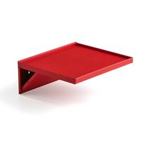 Police k vozíku na nářadí, 457x406 mm, červená