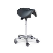 Sedlová židle Derby, bez opěradla, černá