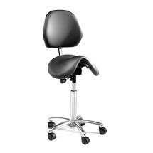 Sedlová židle Derby, s opěradlem, černá
