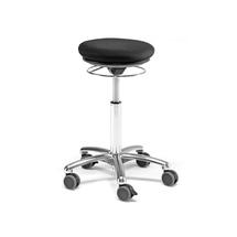 Stolička Pilates Bristol, černá, textilní potah