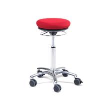 Stolička Pilates Bristol, červená, textilní potah