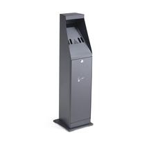 Venkovní stojanový popelník Grant, výška 860 mm, černý