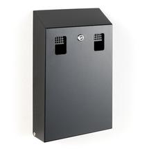 Nástěnný popelník Bruce, výška 370 mm, černý