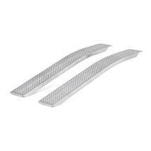 Nájezdové rampy, zahnuté, 400 kg/pár, 2000x200x50 mm, hliníkové
