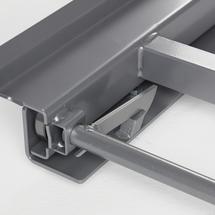 Výsuvný paletový rám, oboustranný, podlahový, nosnost 600 kg