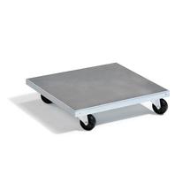 Galvanizovaný vozík, 150 kg, 500x500x120 mm
