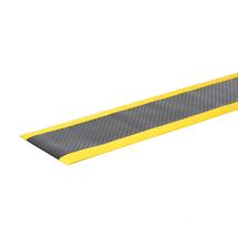 Průmyslová rohož Secure, šířka 600 mm, metráž, černá, žlutá