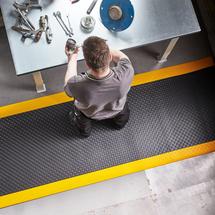 Průmyslová rohož Secure, 18300x600 mm, celá role, černá, žlutá