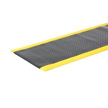 Průmyslová rohož Secure, šířka 910 mm, metráž, černá, žlutá