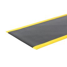 Průmyslová rohož Secure, šířka 1220 mm, metráž, černá, žlutá