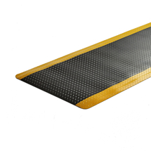 Protiúnavová průmyslová rohož Super, celá role, 910x18300 mm, žlutá, černá