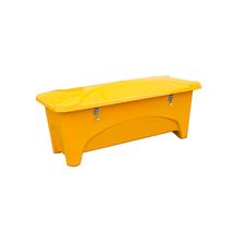 Venkovní úložný box, 475 l, žlutý