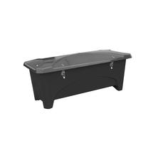 Venkovní úložný box, 475 l, černý