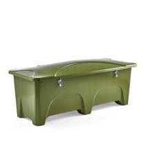 Venkovní úložný box, 1000 l, zelený