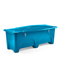 Venkovní úložný box, 1000 l, modrý