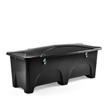 Venkovní úložný box, 1000 l, černý