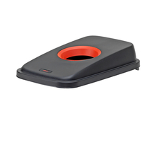 Víko s kruhovým otvorem, červené/černé